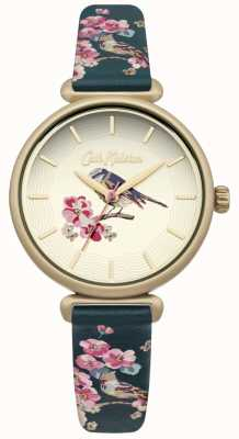 Cath Kidston Flower And Bird Print Strap Bird Dial CKL041NG