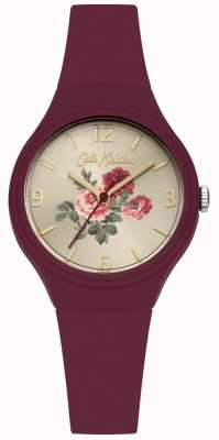 Cath Kidston Berry Silicone Strap With Champagne Dial CKL029R