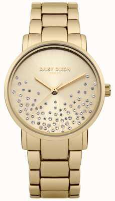 Daisy Dixon Gold Bracelet Gold Sunray Dial Glitter DD053GM