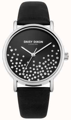 Daisy Dixon Black Strap Black Sunray Dial With Glitter DD053BS