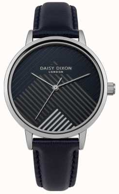 Daisy Dixon Blue Strap With Matte Striped Dial DD056US