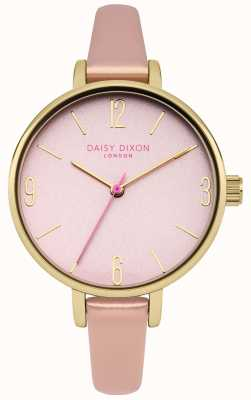 Daisy Dixon Metallic Pink PU Strap Pink Mirror Dial DD060PPG