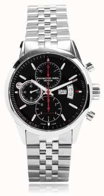 Raymond Weil Mens Freelancer Automatic Chronograph Stainless Steel 7730-ST-20041