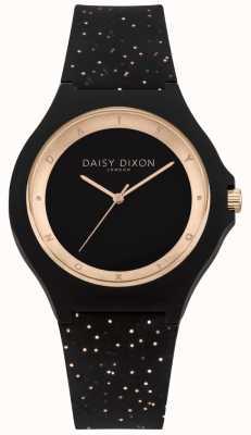 Daisy Dixon Black & Rose Gold Glitter Silicon Strap DD031BRG