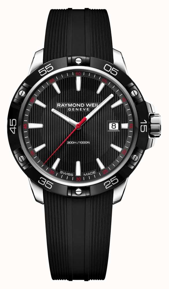 Raymond Weil Mens Tango 300 Black Rubber Strap Black Dial 8160 Sr1