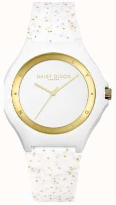 Daisy Dixon White / Gold Glitter Silicone Strap DD031WG