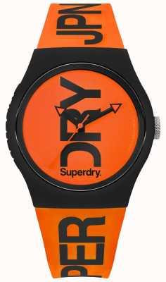Superdry Orange Dial Orange Silicone Strap SYG189OB