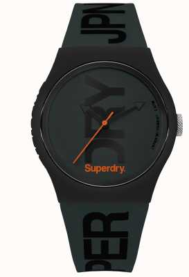 Superdry Stealth Green With Black Text Print SYG189NB