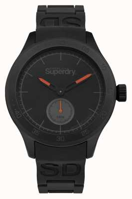 Superdry Black Case Black Dial Black Silicone Strap SYG212BB