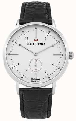 Ben Sherman The Dylan Professional White Face Black Leather Strap WBS102WB