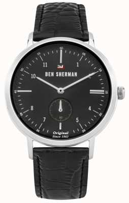 Ben Sherman The Dylan Professional Black Dial Black Leather Strap WBS102BB