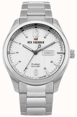 Ben Sherman The Sugarman Heritage White Dial Stainless Steel Case WBS105SM