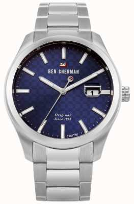 Ben Sherman The Ronnie Professional Stainless Steel Bracelet Blue Dial WBS109BSM