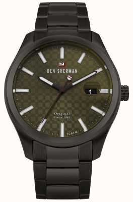 Ben Sherman The Ronnie Professional Green Dial Black Case Bracelet WBS109BBM