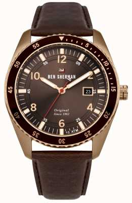 Ben Sherman The Ronnie Sports Bronze Dial Bronze Case Brown Leather WBS107TRG
