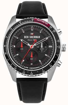 Ben Sherman The Ronnie Chronograph Sunray Dial Red Highlights WBS108RB