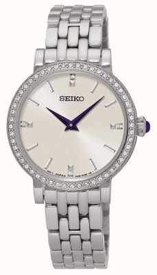 Seiko Womens Quartz Crystal Set Dial SFQ811P1