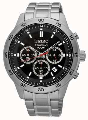 Seiko Chronograph Black Dial Stainless Steel Bracelet SKS519P1