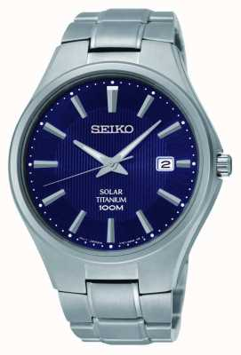 Seiko Titanium Date Display Blue Dial SNE381P9