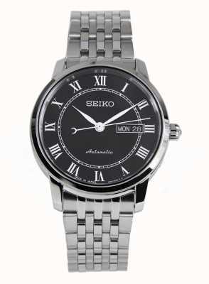 Seiko Presage Automatic Black Dial Stainless Steel Bracelet SRP765J1