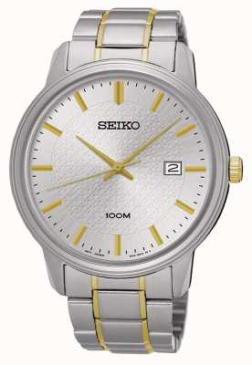 Seiko Two Tone Gold & Silver Bracelet Date Display SUR197P1