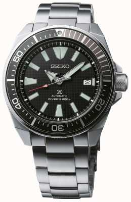 Seiko Prospex Samurai Patterned Dial Screw Down Crown Stainless SRPF03K1