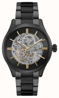 Kenneth Cole Automatic Skeleton Dial Black Stainless Steel Bracelet KC15171003