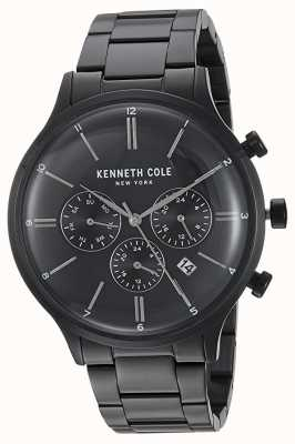Kenneth Cole New York Black Dial Black Stainless Steel Case Date Display KC15177003