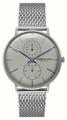 Kenneth Cole New York Quartz Grey Dial Stainless Steel Mesh Bracelet KC15188002
