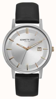 Kenneth Cole New York Silver Dial Rose Gold Markers Date Display KC15202001