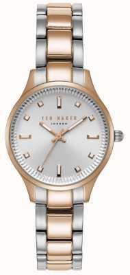 Ted Baker Womens Zoe Two Tone Bracelet Silver Dial TE50006002