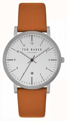 Ted Baker Samuel White Dial Light Tan Leather Strap TE15088002
