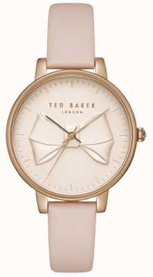 Ted Baker Womens Brook Champagne Bow Dial Rose Gold Case Pink Leather TEC0185001