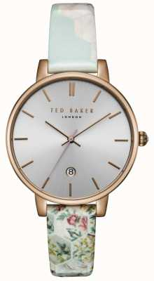 Ted Baker Womens Kate Silver Dial HoneyComb Print Strap TEC0025003
