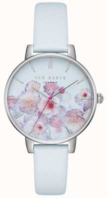 Ted Baker Womens Kate Blue & Pink Floral Print Dial Leather Strap TEC0025012