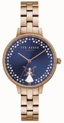 Ted Baker Womens Kate Fairy Crystal Set Dark Blue Dial TE50005002