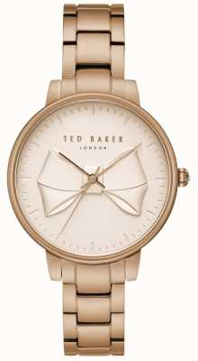 Ted Baker Womens Brook Champagne Bow Dial Rose Gold Stainless Steel TE15197002