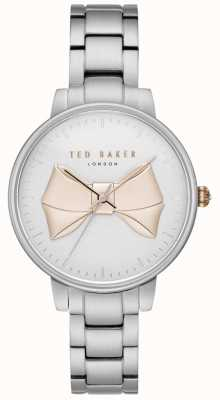Ted Baker Womans Brook Gold Bow Dial Silver Stainless Steel Bracelet TE15197004