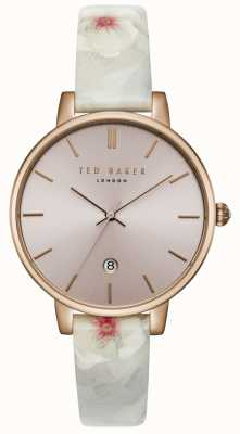 Ted Baker Womans Kate Pink Dial Floral Leather Print Strap TEC0025004
