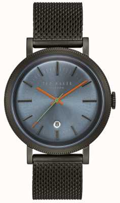Ted Baker Connor Blue Dial Black PVD Case Mesh Stainless Steel Strap TE15062008