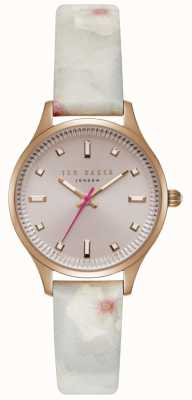 Ted Baker Womans Zoe Pink Dial Rose Gold Case TE50001002