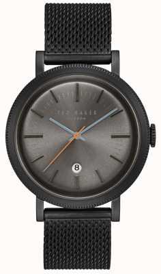 Ted Baker Connor Dark Grey Dial Black PVD Case Mesh Stainless Steel TE15062009