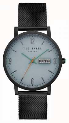Ted Baker Grant Light Blue Dial Black PVD Case Mesh Bracelet TE15196014