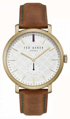 Ted Baker Trent Cream Patterned Dial Tan Leather Strap TE15193006