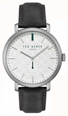 Ted Baker Trent White Patterned Dial Silver Stainless Steel Case TE15193007