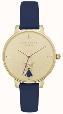 Ted Baker Womans Kate Fairy Gold Case Blue Leather Strap TE15162005