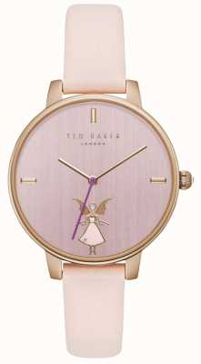 Ted Baker Womans Kate Fairy Pink Dial Gold Case Pink Leather Strap TE15162004