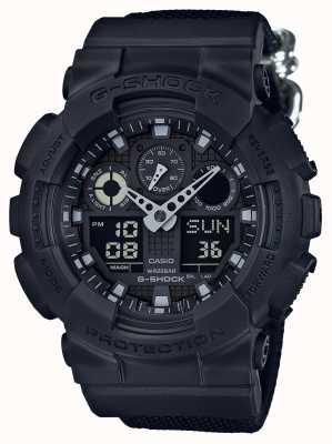 Casio G-Shock Blackout Chronograph Alarm GA-100BBN-1AER
