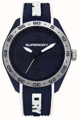 Superdry Navigator Blue Dial Silver Stainless Steel Case Blue Rubber SYG213U