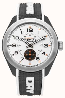 Superdry Navigator Military Black Silicone Rubber Stap SYG214B
